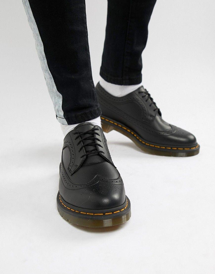 DR. MARTENS VEGAN 3989 BROGUE SHOES IN BLACK - BLACK.  dr.martens  shoes da3e76b79410