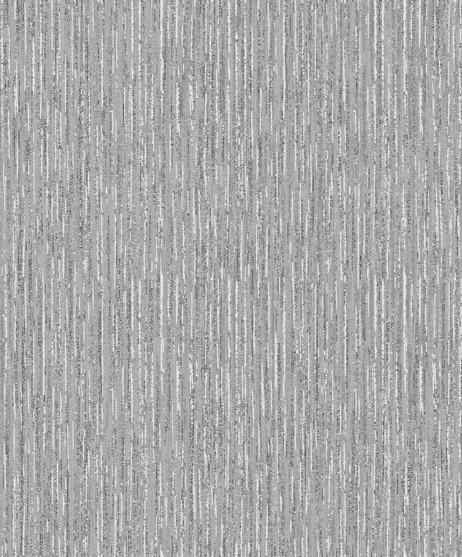 Crown Samsara Textured Silver Wallpaper Feature M0555
