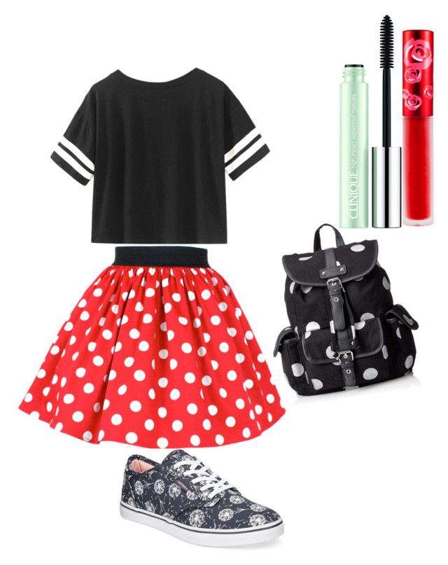 """Minnie Mouse"" by thottiemichael on Polyvore featuring Vans, Wild Pair, Lime Crime and Clinique"