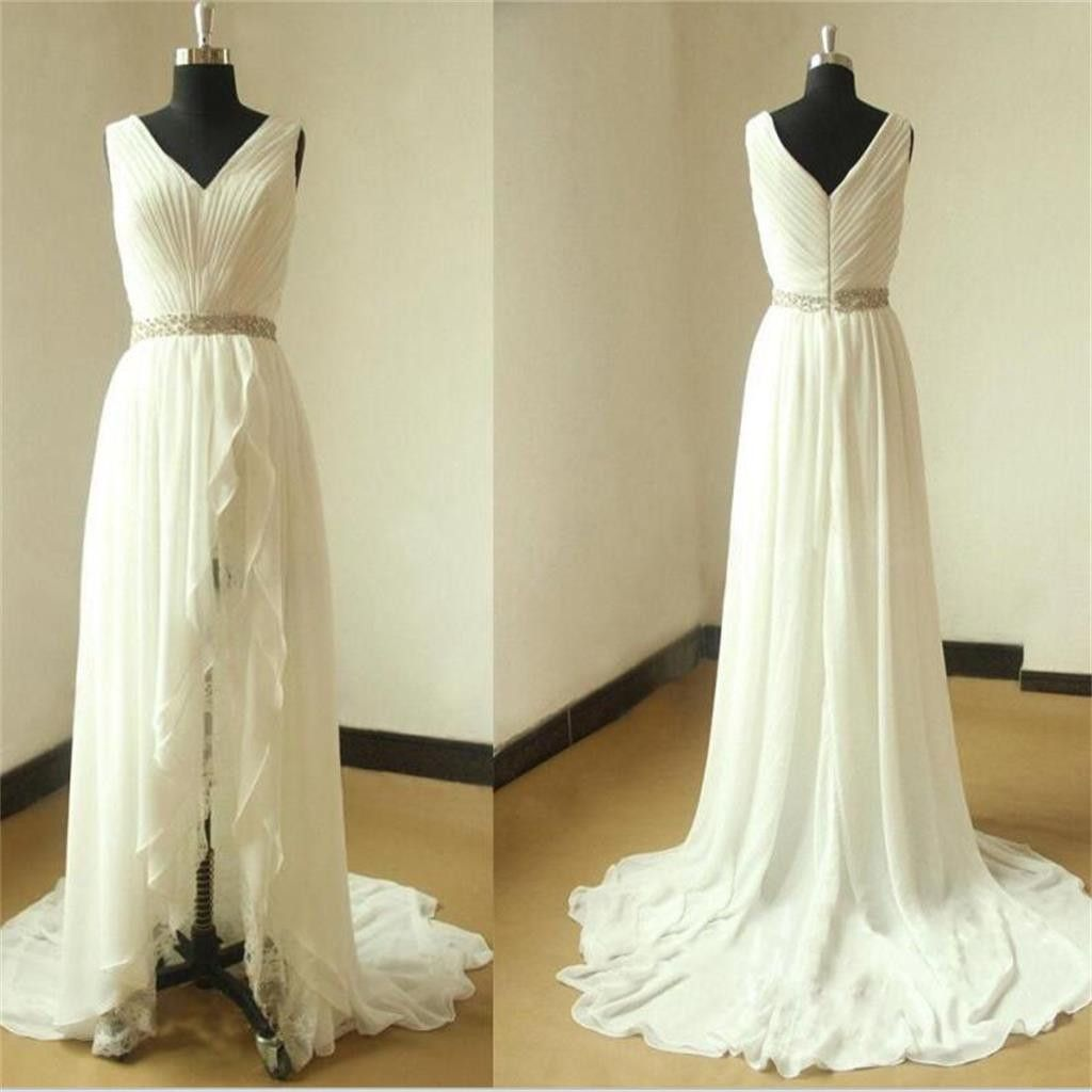 Beach Unique Simple Pretty High Quality Custom Make Wedding Dresses Wd0115