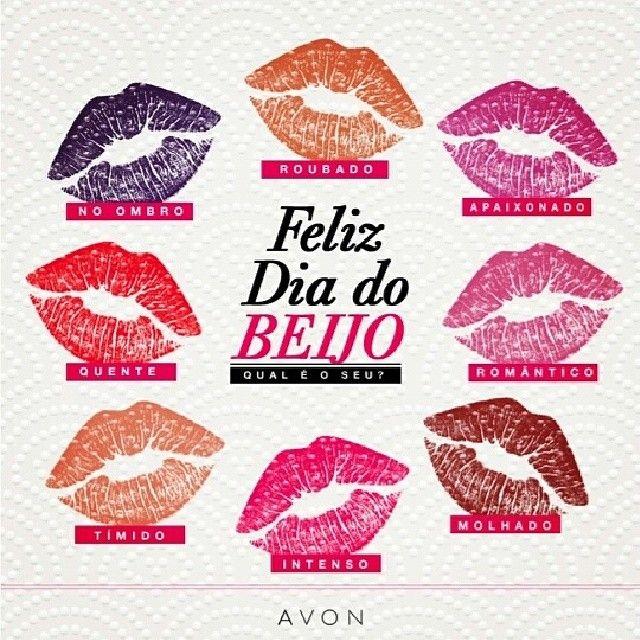 Para comemorar o #DiadoBeijo, uma brincadeira para quem é louca por batom: Qual é o seu beijo? Dê um regram e marque-se no que mais tem a ver com você... Ou envie seu beijo favorito para alguém!