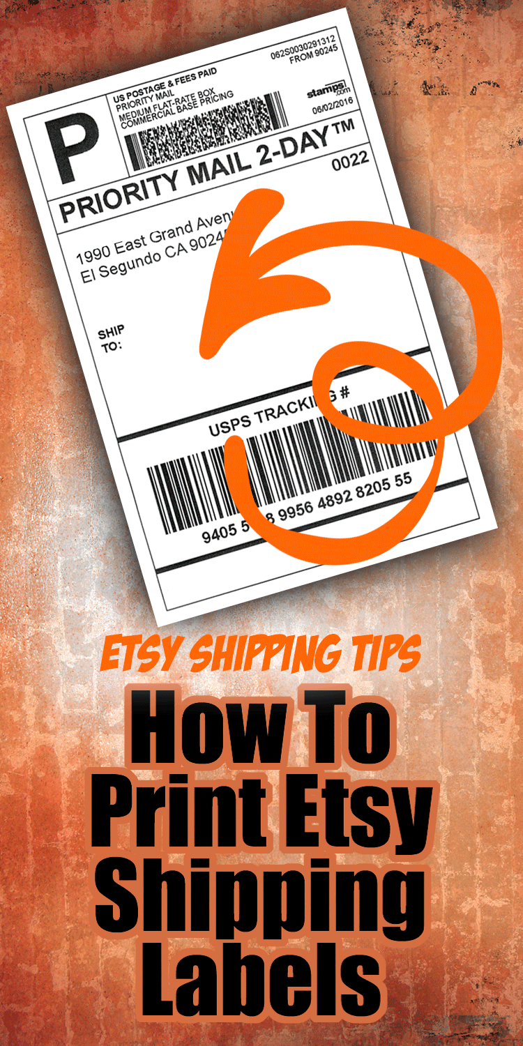 If you are just getting started with Etsy, then you probably have questions about how to do shipping labels (I know this because I teach in person classes about Etsy and there are a LOT of questions about how to print shipping labels!) #etsyshop #etsyseller