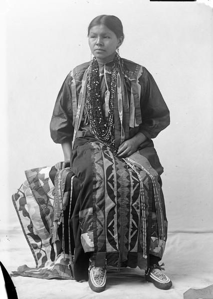 Ho-Chunk Woman By Henry Hamilton Bennett (1843-1908)