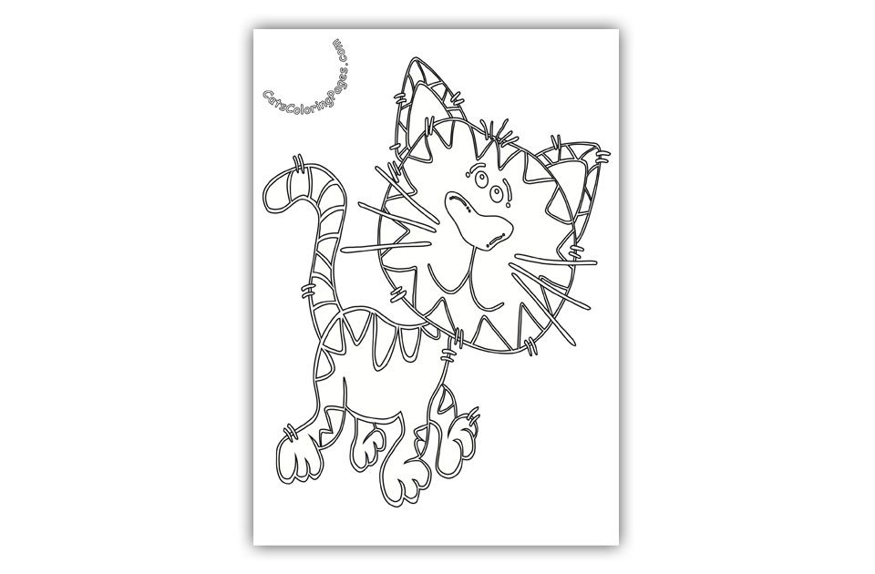 Playful Tiger Tomcat Coloring Page Cat Coloring Page Coloring