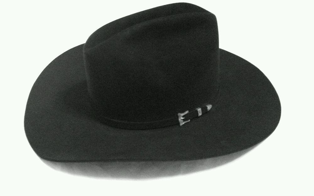 Resistol Self Conforming Cattleman 65 Black Gold 20x Beaver Cowboy Hat  f0a7ca9f0da0