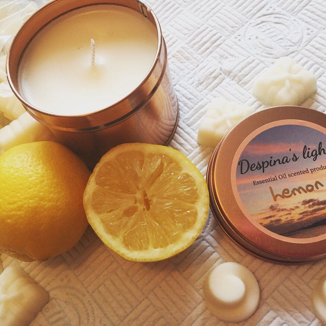 Citrus Lemon Soy Candles Uk Luxury Essential Oil Container Vegan Candle Family Or Girlfriend Gift For Birthday Easter Soy Candles Essential Oil Candles Essential Oil Scents