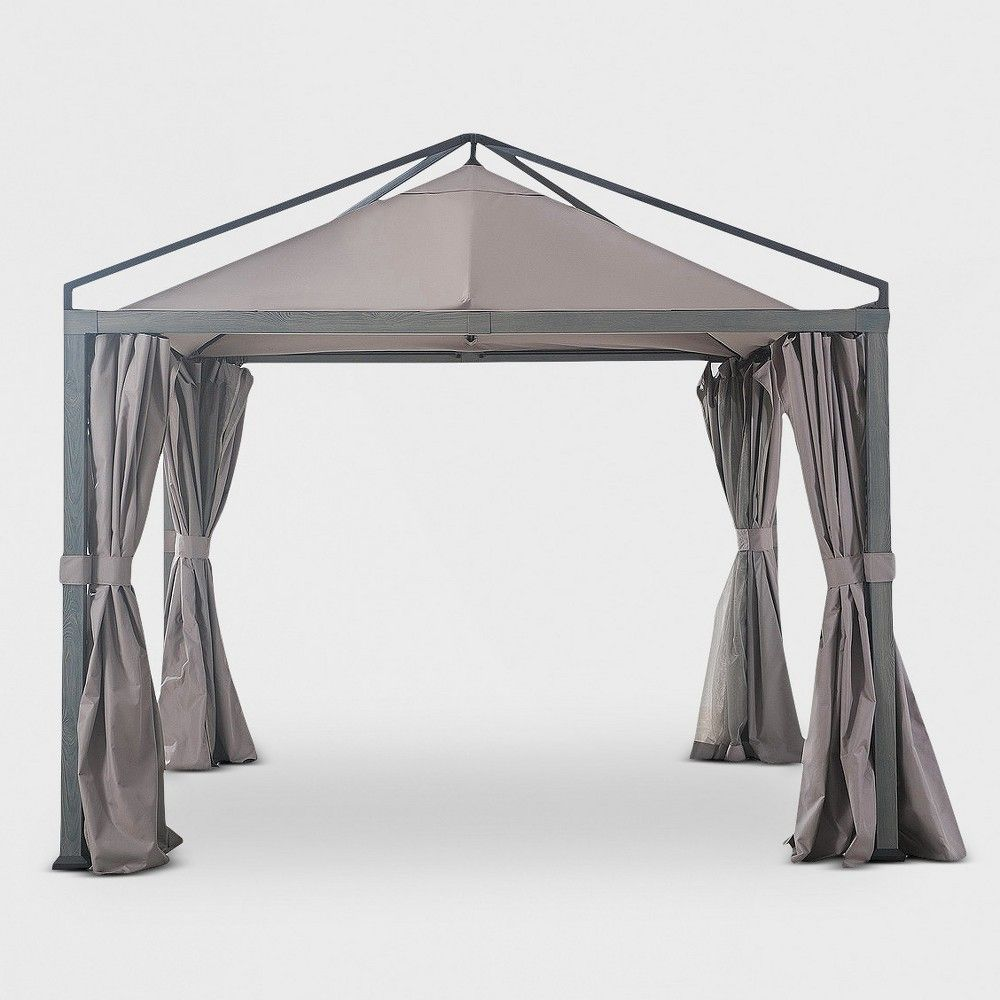 Moda 10 X10 Gazebo Gray Project 62 In 2020 Gazebo Outdoor Shade Outdoor Patio Decor