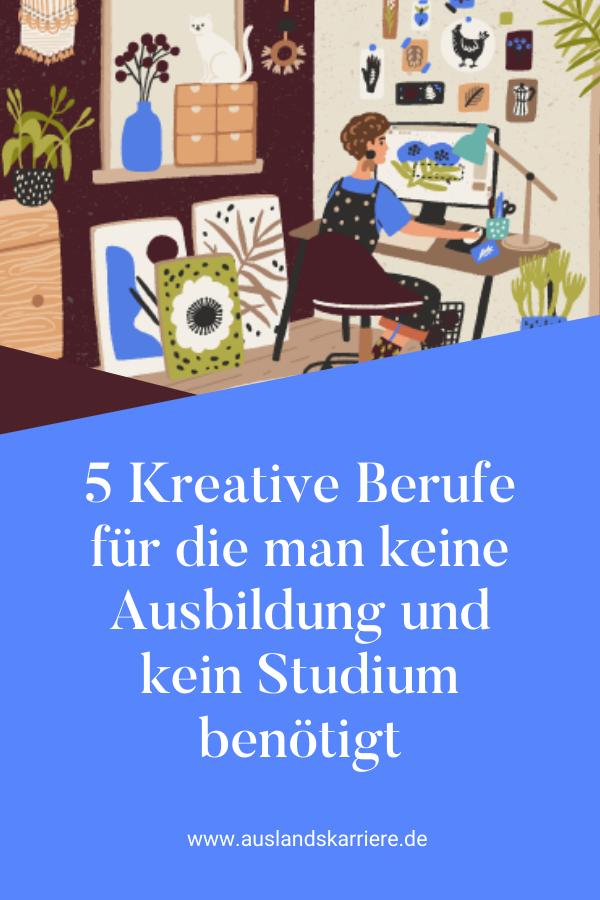 5 Kreative Berufe ohne Ausbildung oder Studium