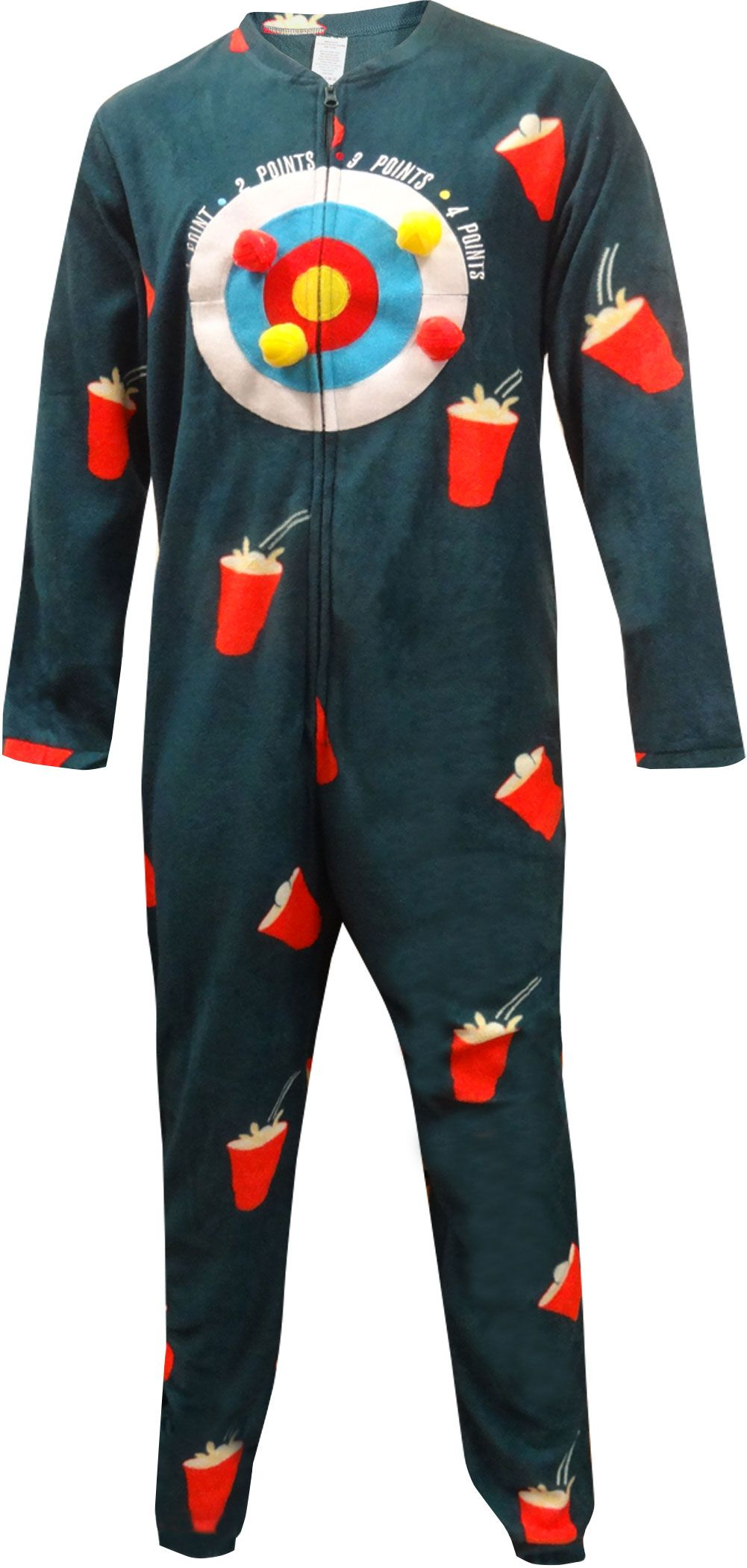 WebUndies.com Human Dart Board One Piece Union Suit Pajama 611f82f09