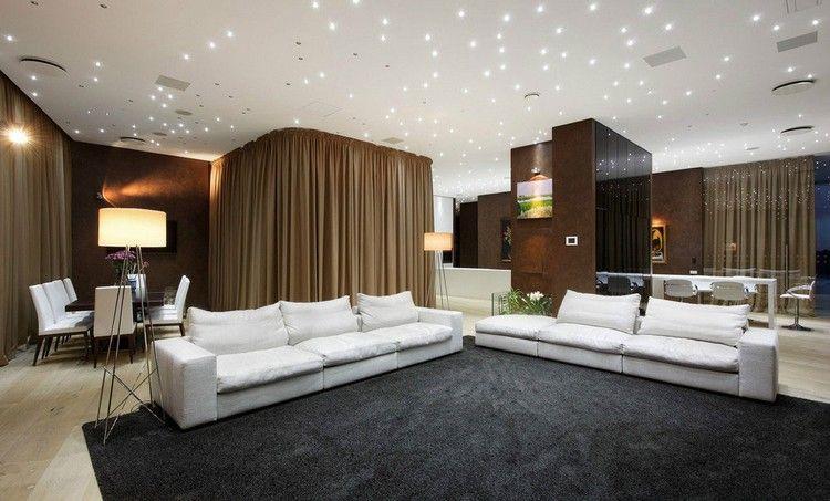 Sternenhimmel Mit LED Als Deckenbeleuchtung Im Wohnbereich