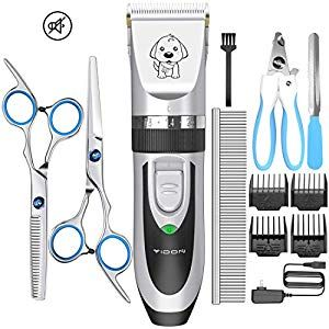 YIDON Dog Clippers Low Noise Cordless Rechargeable