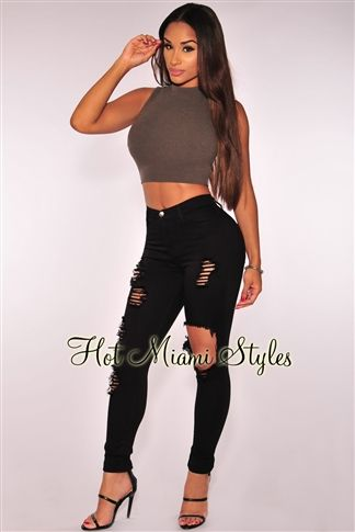 72e7ac7615b Black Destroyed Skinny Jeans