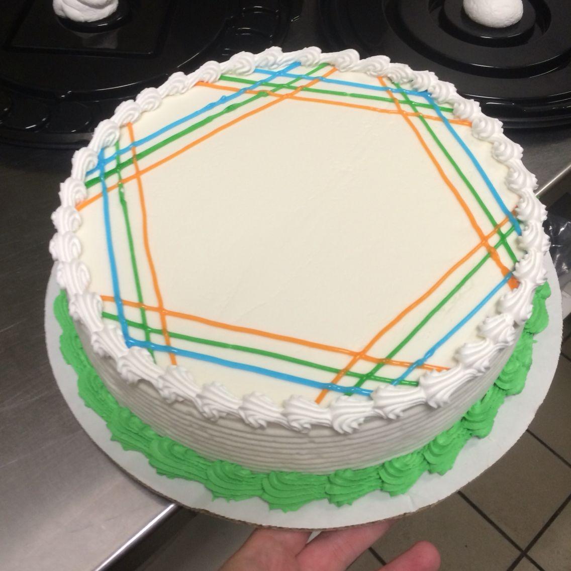Dq cake design hexagon look dairy queen ice cream cake