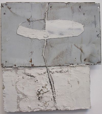 Jupp Linssen -oilpaint-zinc-paper on canvas- 2