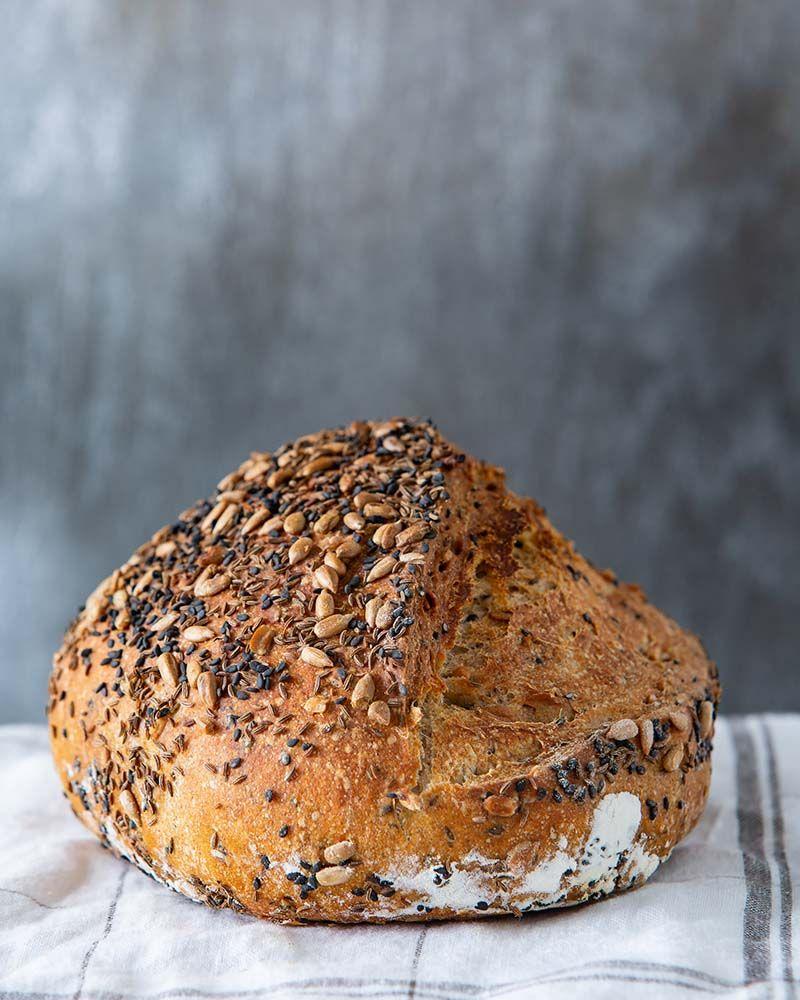Platinum Instant Sourdough Seeded Rye Bread Red Star Yeast Recipe Rye Bread Sourdough Bread