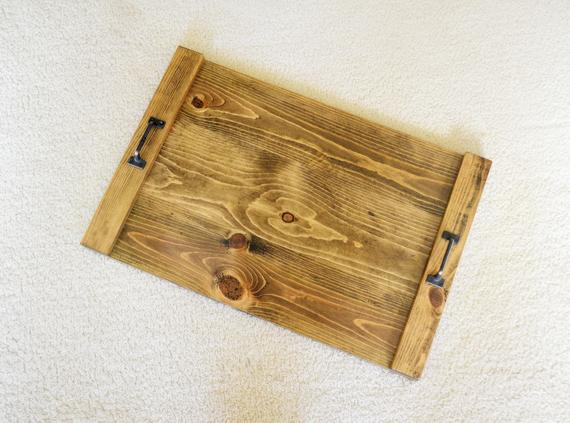 Prime Tray With Handles Wood Rustic Serving Tray Coffee Table Dailytribune Chair Design For Home Dailytribuneorg