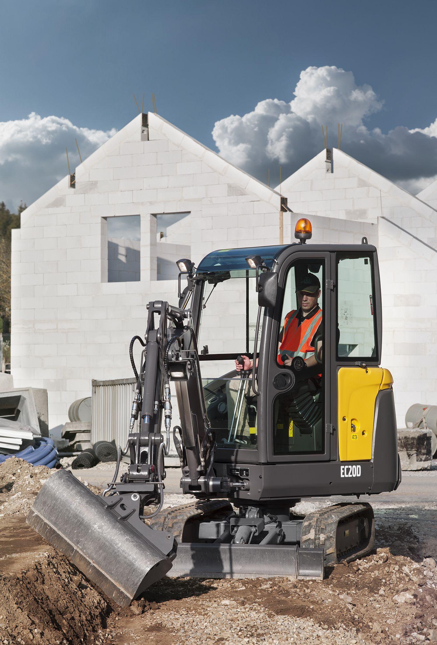 volvo ec20d compact excavator packs a mighty punch rock u0026 dirt
