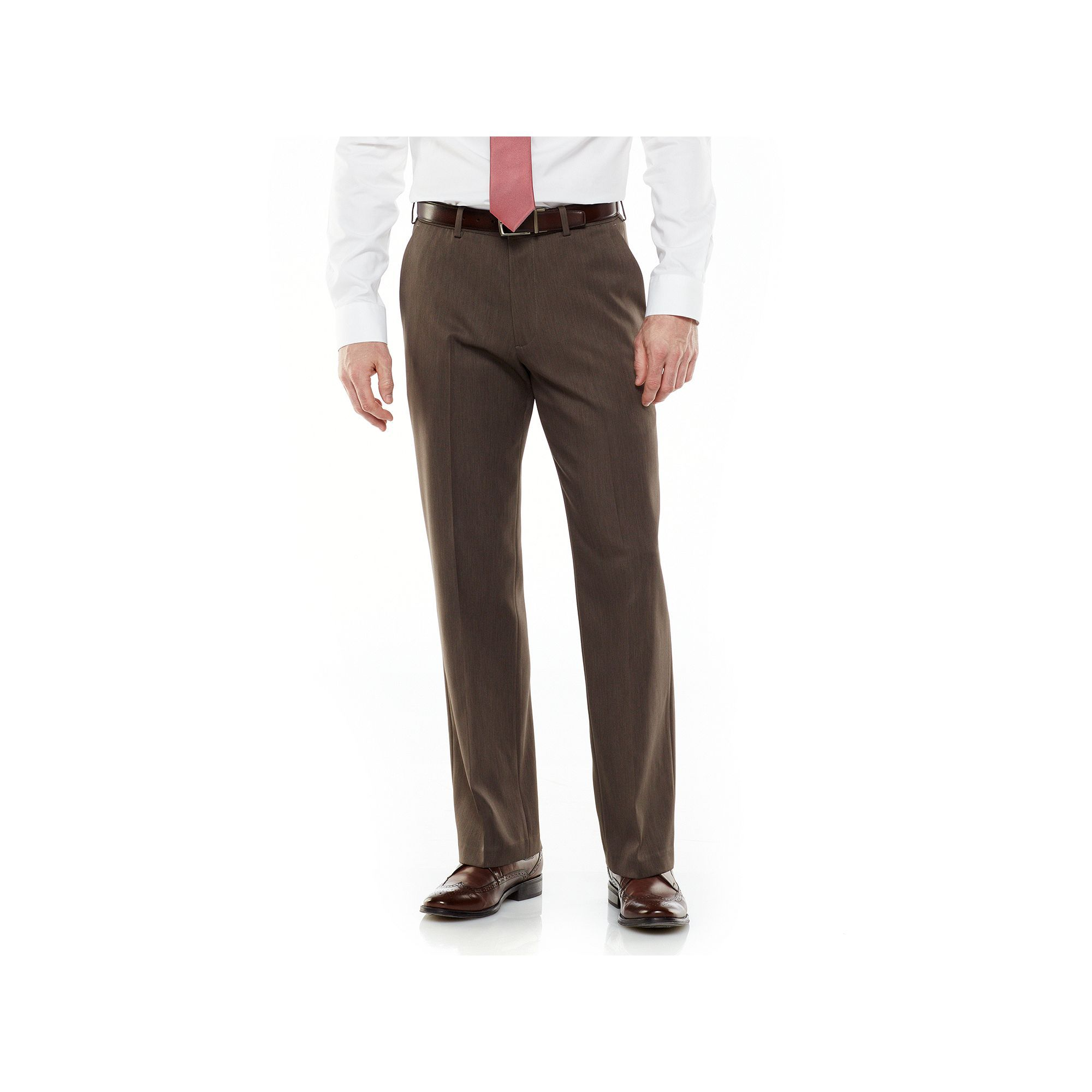 9b05215d Mens Van Heusen Traveler Flat Front Dress Pants
