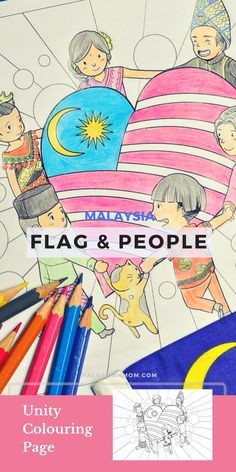 Patriotic Colouring Page Malaysia Coloring Pages Flag Coloring