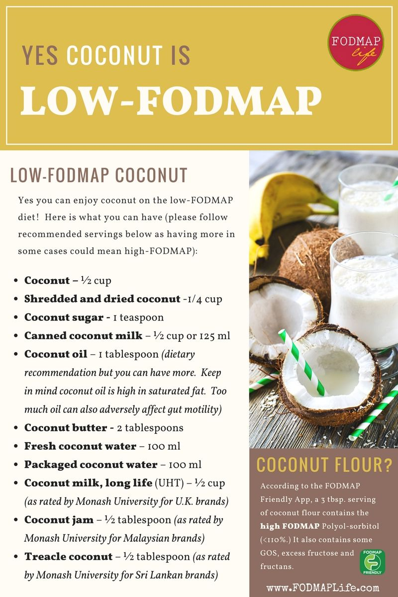 low fodmap diet coconut