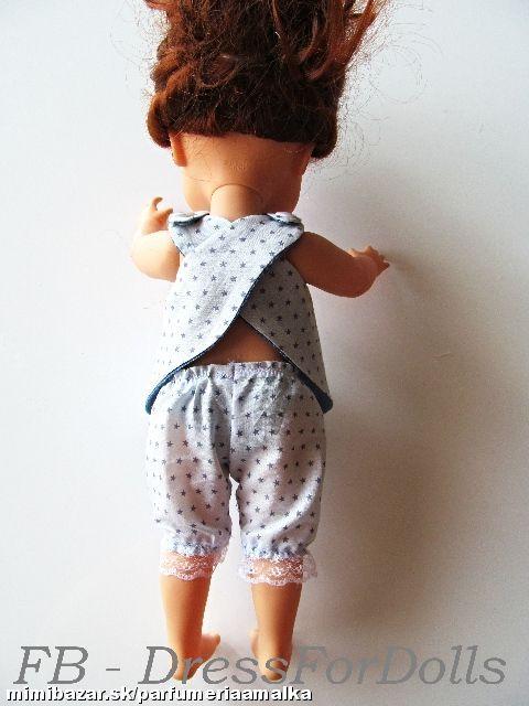 Zásterka obojstranná na bábiku spodné nohavice