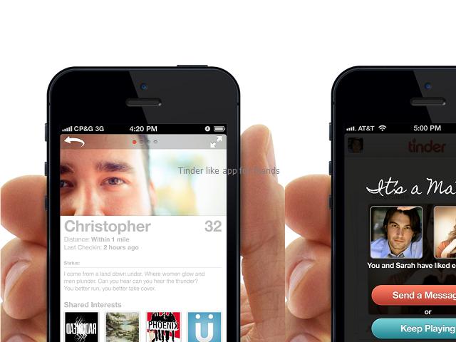 Tinder like app for friends Online dating apps, Tinder