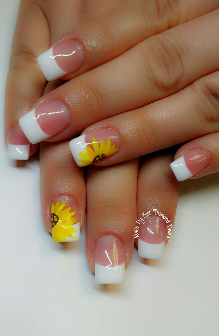 Sunflower nails - Sunflower Nails Nails Pinterest Sunflower Nails And