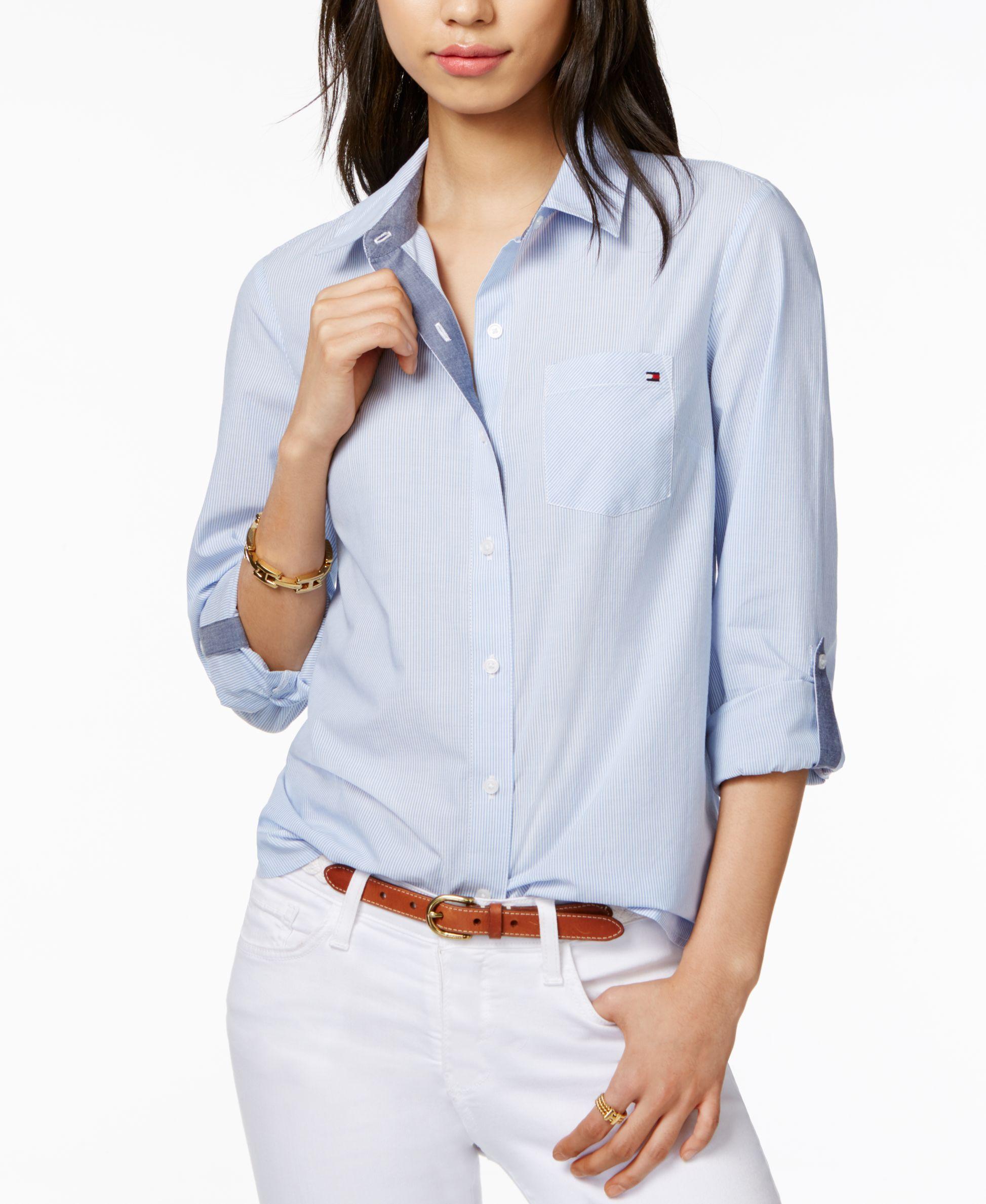 bacccf39e Tommy Hilfiger Cotton Pinstripe Shirt