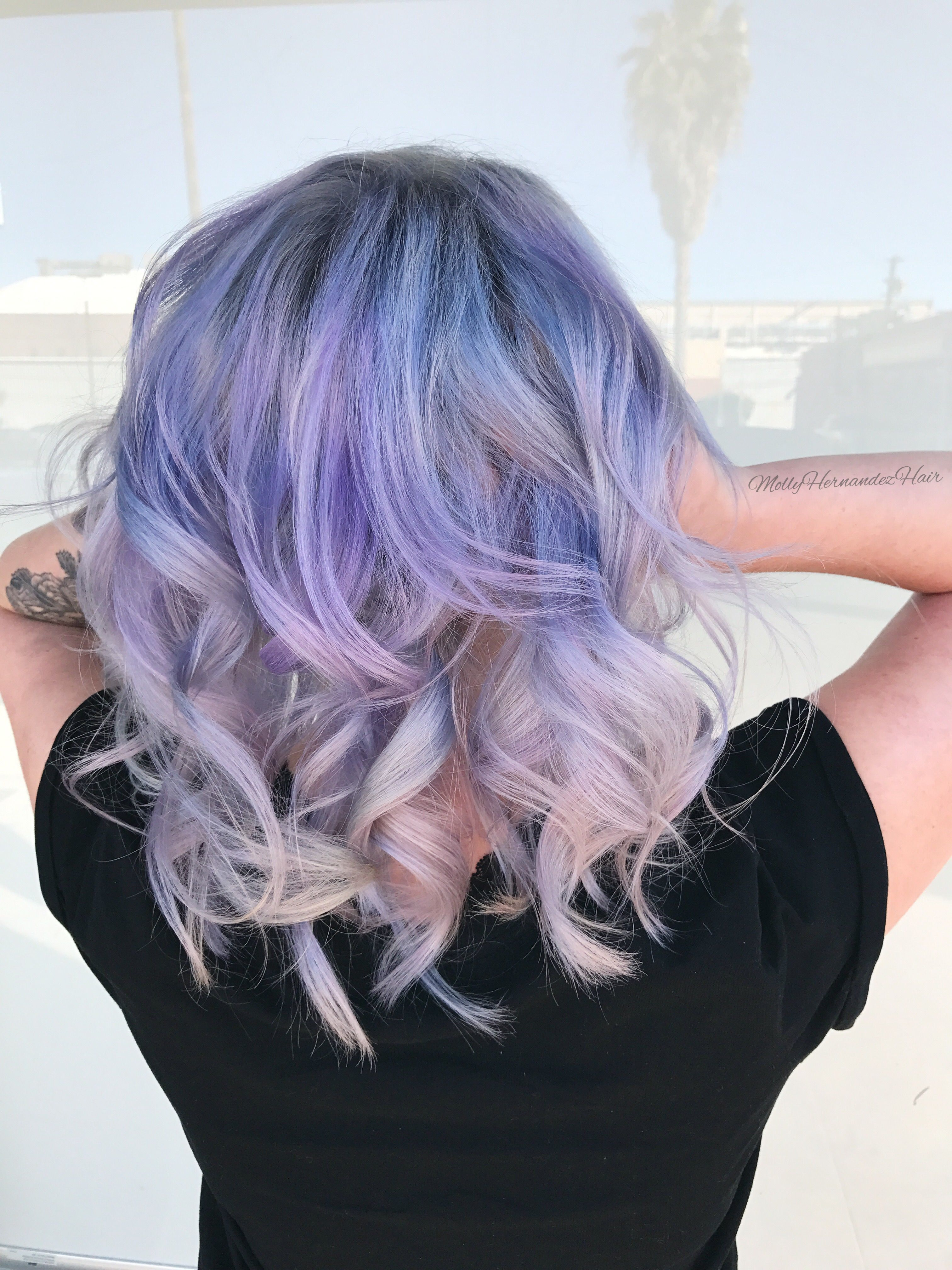 Cotton Candy Melt Pastel Hair Blue Purple Gray Hair Hair My