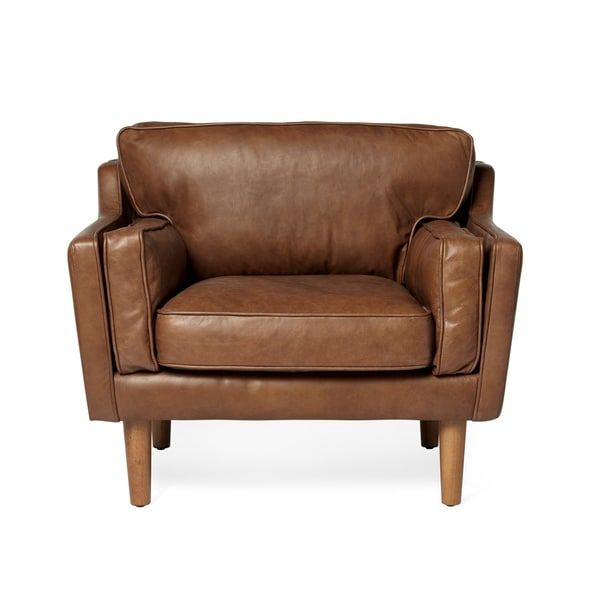 Beau Beatnik Oxford Tan Leather Chair