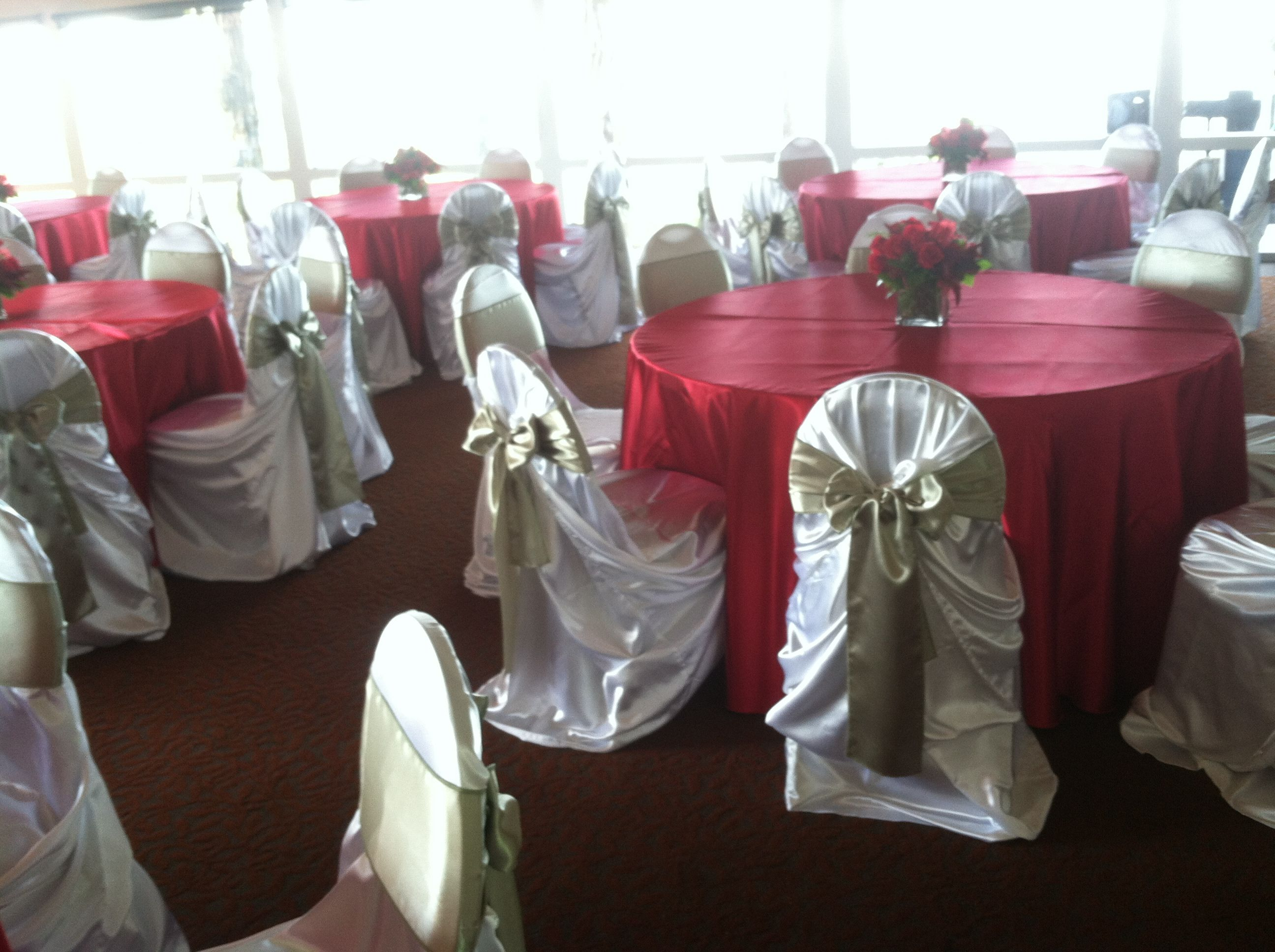 Kirklands Christmas Chair Covers Small Chairs For Bedrooms Red Satin Tablecloth Cover Green Sash