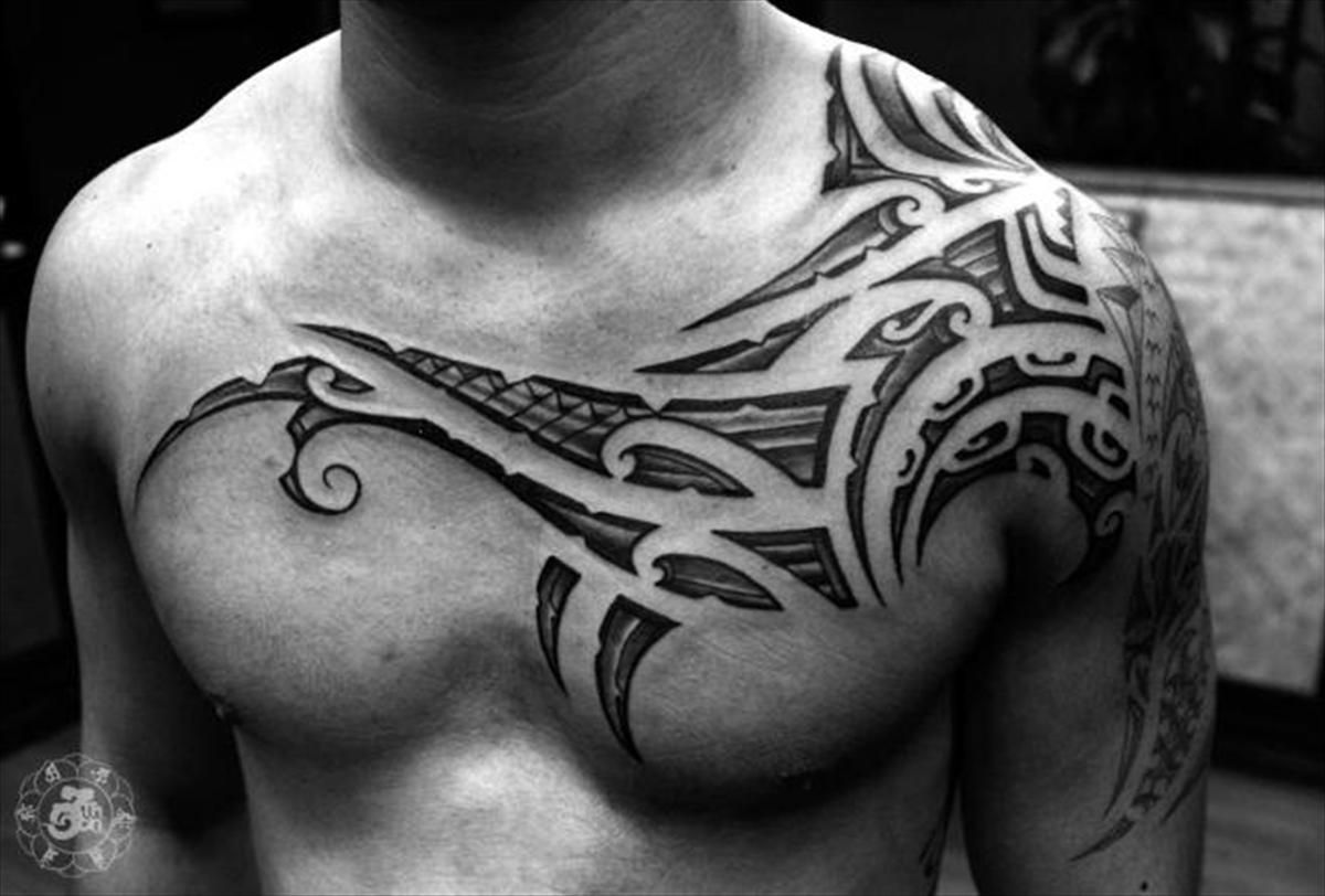 Sick Tattoos On Twitter Tribal Chest Tattoos Collar Bone Tattoo For Men Mens Shoulder Tattoo