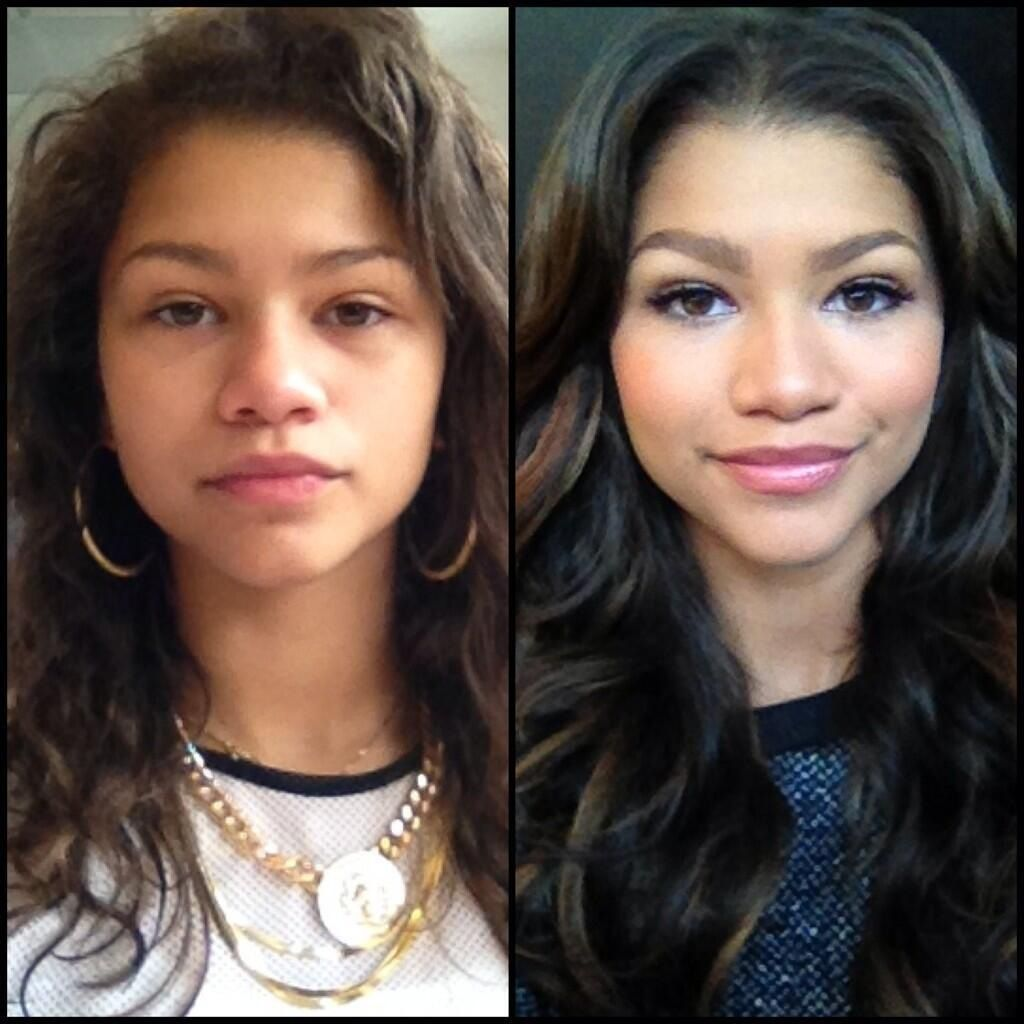Pretty with or without makeup! )