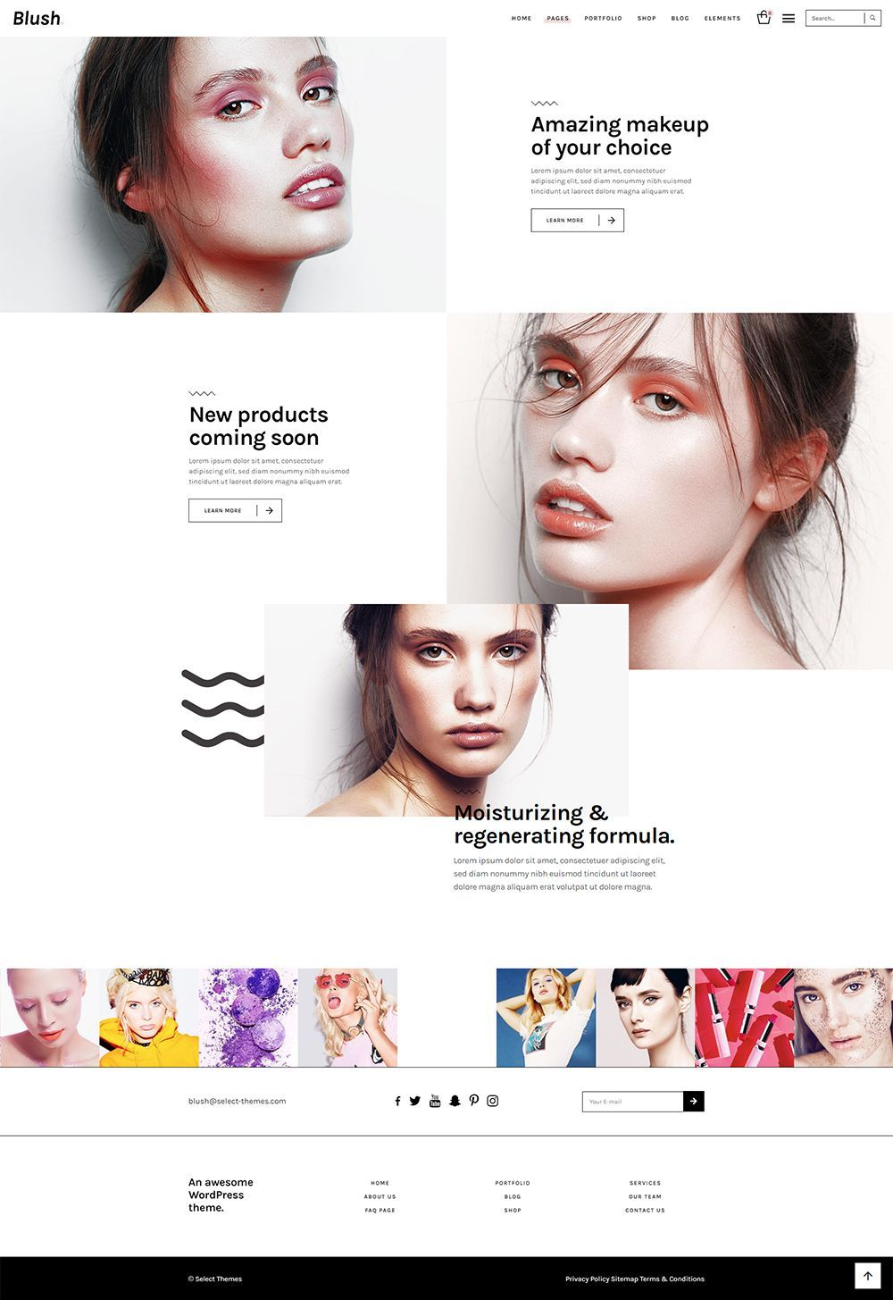 Create a beautiful website today with Blush WordPress theme! #wordpress #theme #design #webdesign #uxdesign #uidesign #responsive #designinspiration #webdesign #wordpresslove #template #layout #websitedesign #branding #websiteideas #webart #webpage #visual