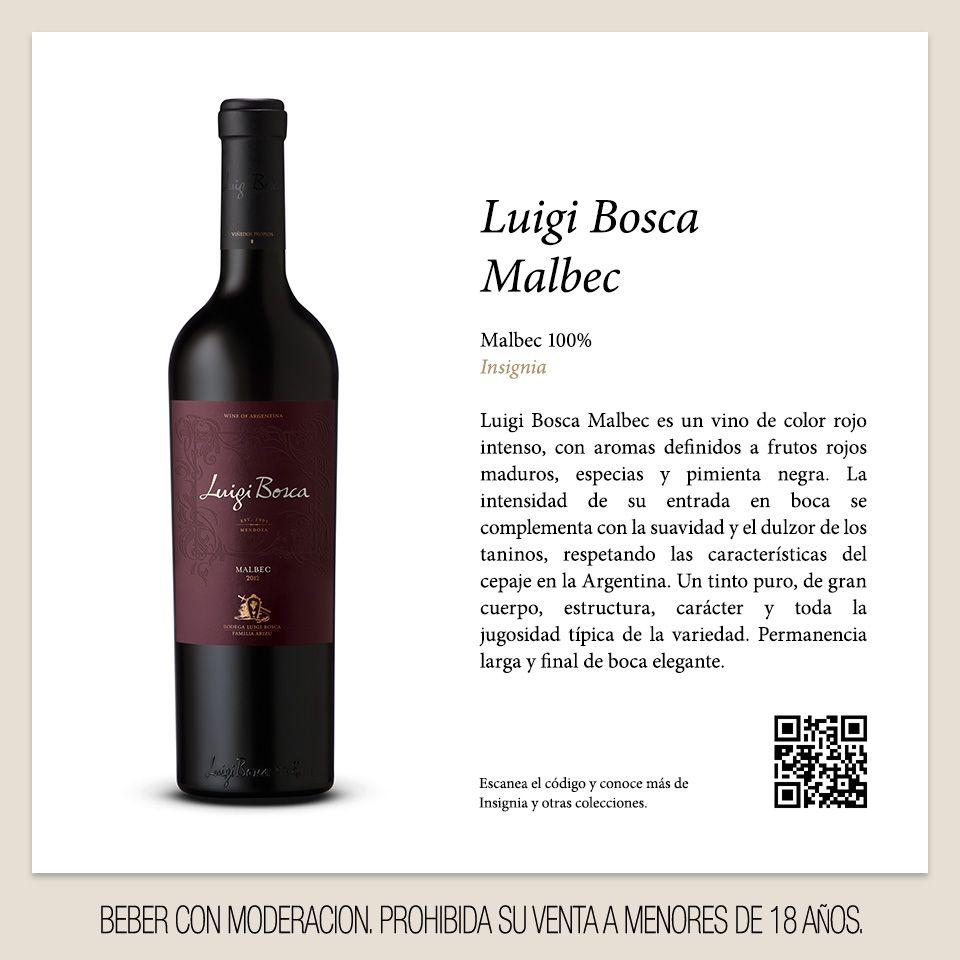 Luigi Bosca | Malbec, un tinto puro, de gran cuerpo, estructura, carácter y toda la jugosidad típica de la variedad. #LuigiBosca