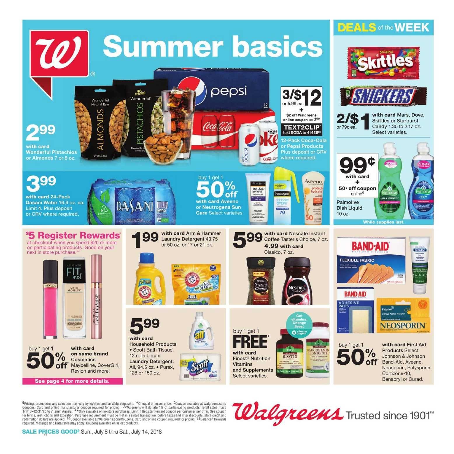 Walgreens Ad Special July 7 – 13, 2019 | Weekly Ad Circulars