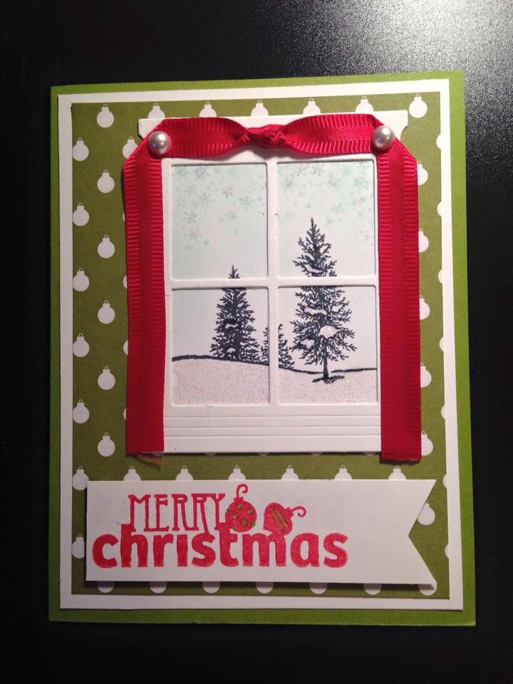November Stamp Camp Card #2 - Stamp Sets: Christmas Bliss & Happy Scenes with Hearth & Home Framelits