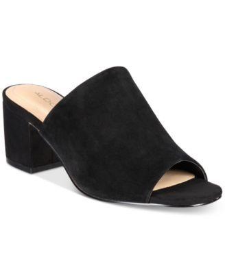 014e51d4afb86 ALDO Women's Alaska Block-Heel Slides | macys.com | Clothing ...