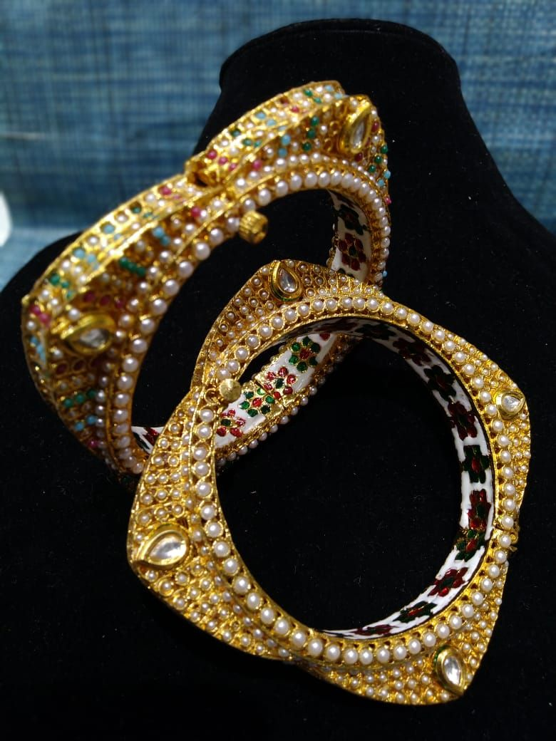Gold plated bangles bracelet designs jewelry jewellery necklace