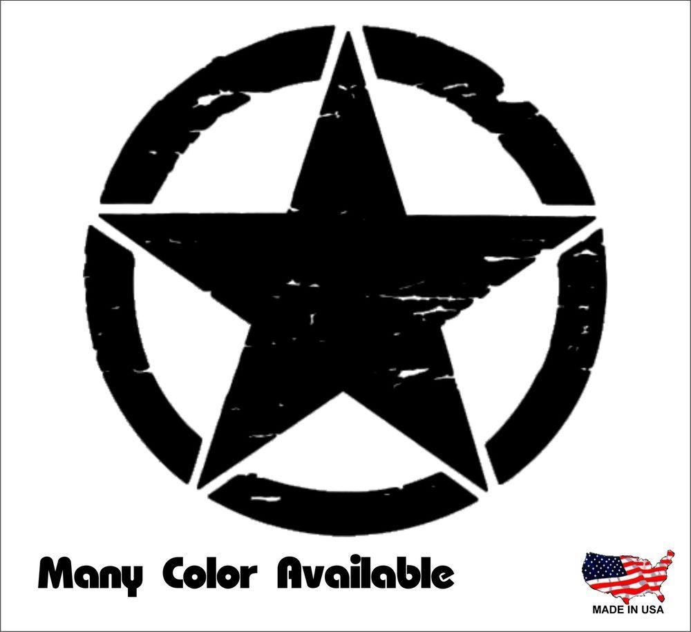 Jeep Oscar Mike Distressed Star Freedom Edition Vinyl Car