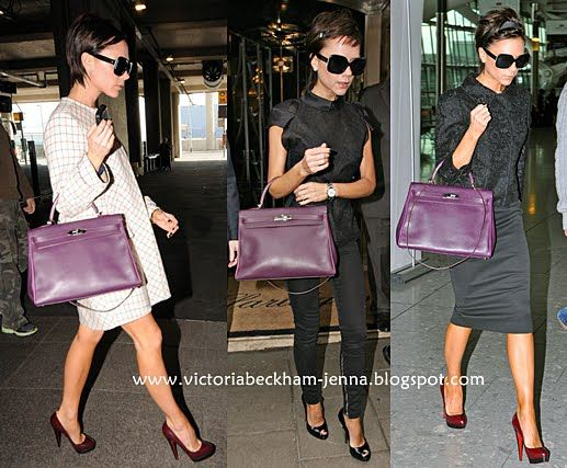 a1c15d1428 Victoria Beckham with Raisin Kelly 35 Hermes Bags
