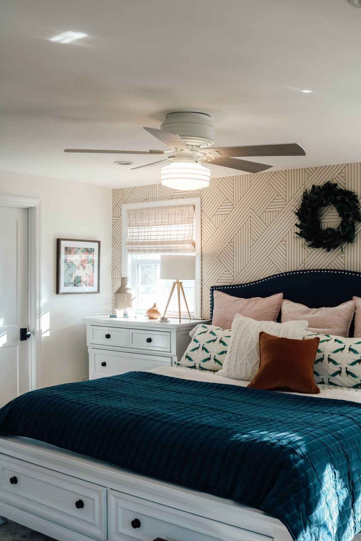 Bedroom Makeover- Dark Furniture to Bright White with ...
