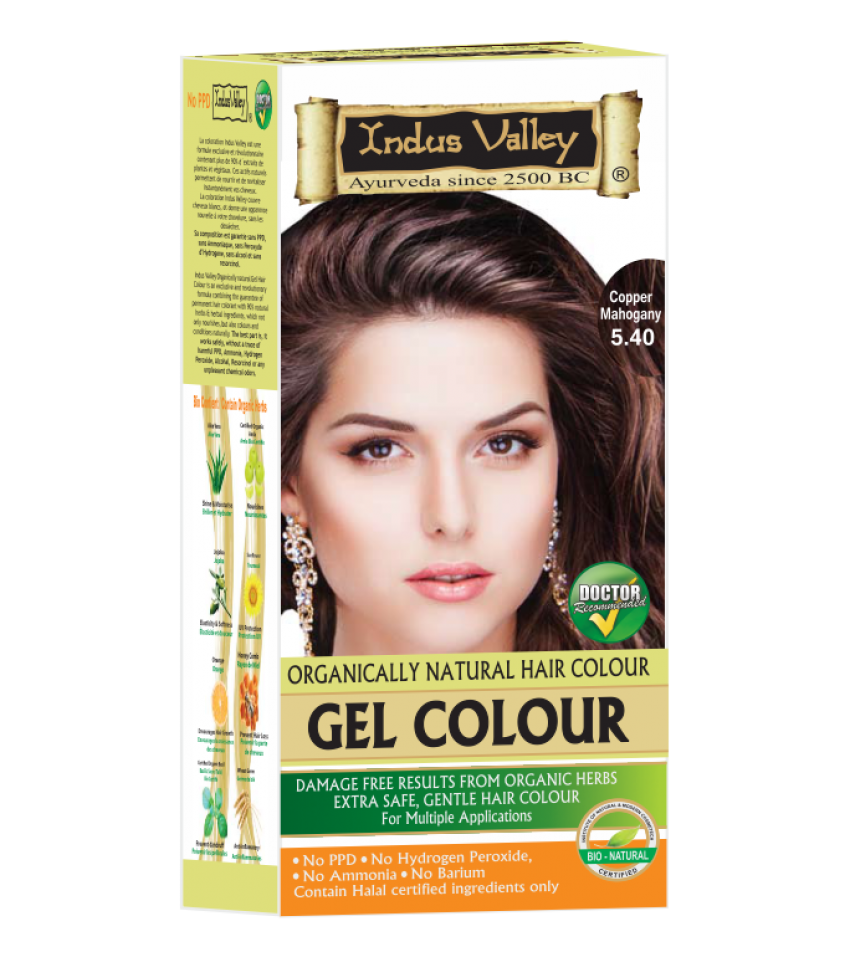 Gel Hair Colour Copper Mahogany 5 40 Hair Color Without Ammonia Hair Color Colored Hair Tips
