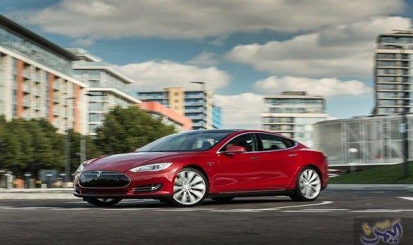 تسلا للسيارات تطلق طرازي إس و إكس في تبدأ تسلا الاثنين باستقبال طلبات الشراء عبر الإنترنت لمركبتي موديل أس و مود Tesla Model S Tesla Model S P85 Tesla