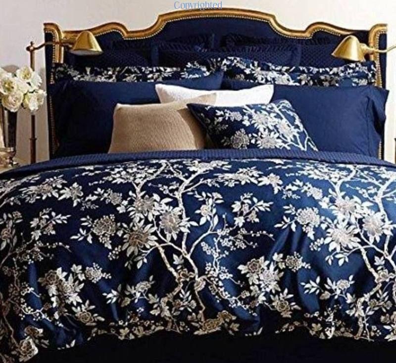 Ralph Lauren Deauville Blossom Sham Navy Blue Floral Standard New Beautiful Ebay Blue Bedding Home Bedroom Home