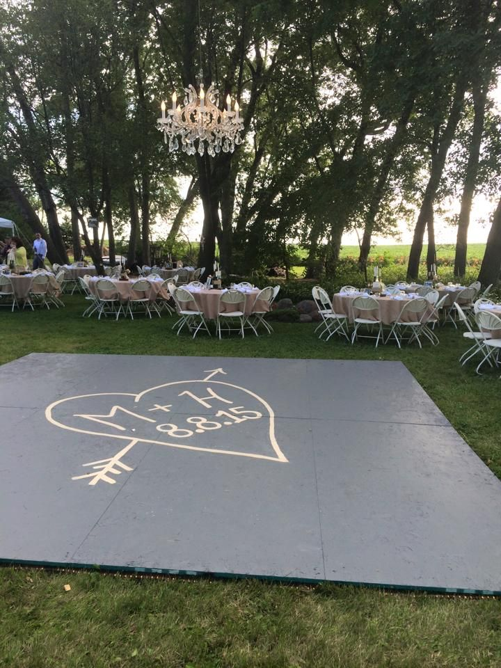 build a dance floor outside, suspended chandelier in the ...