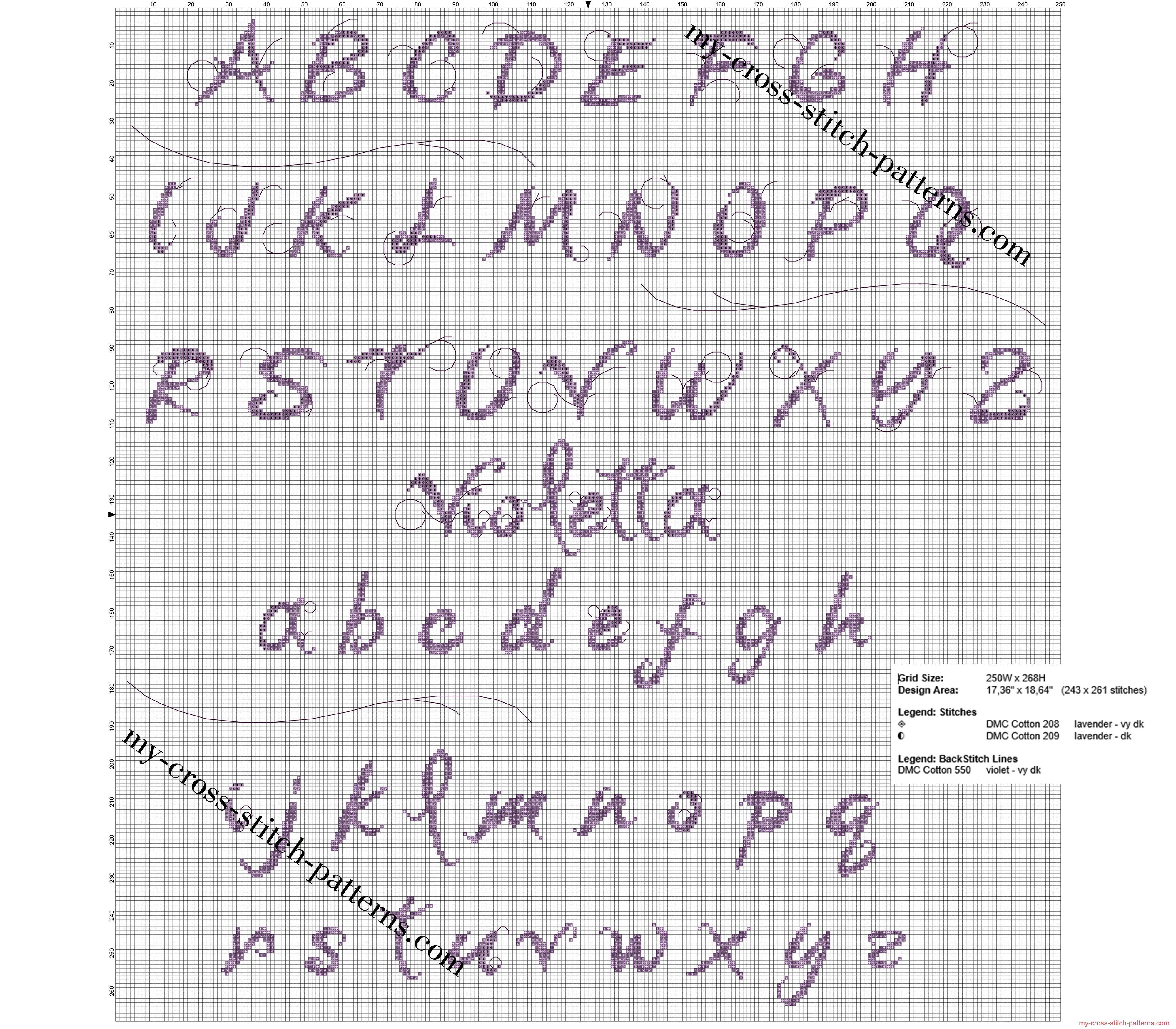 Alfabeto Punto Croce Gratis Di Disney Violetta Alfabe Ve Sayilar