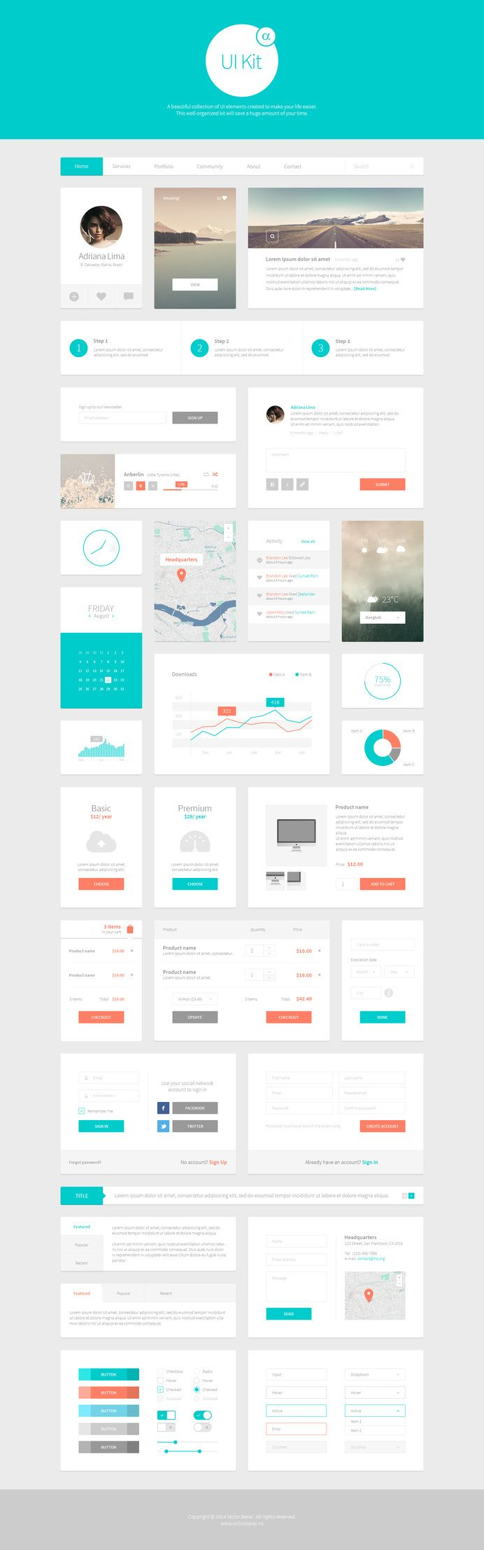 alpha ui kit web elements 1 in dashboard gamified apps