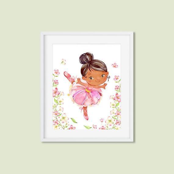 ballerina print ballet Watercolor a4 gloss poster Print nursery picture unframed Möbel & Wohnen