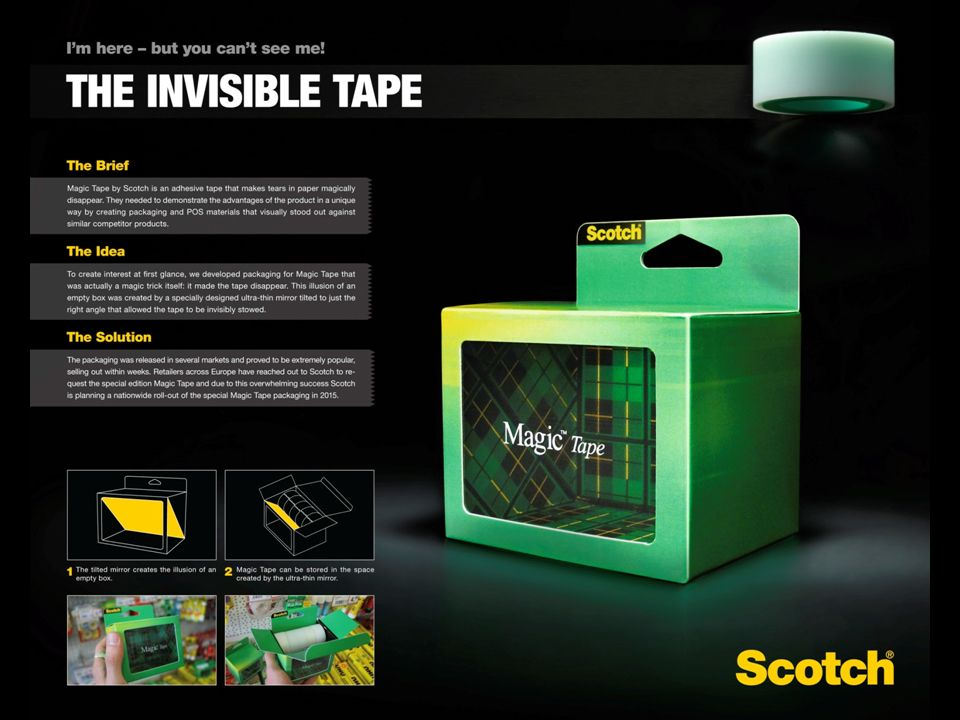 3M | The invisible tape on Behance | products | Clever